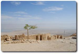 Izrael - More Martwe z ruin Masady