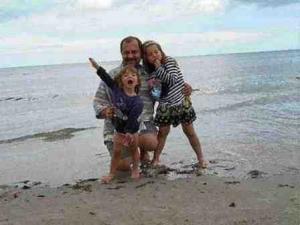 ja z dziećmi na plaży