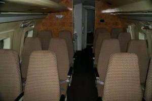 Wnętrze kabiny pasażerskiej Jaka-40/048 -z takim samym układem siedzeń jak w Jaku-40/044