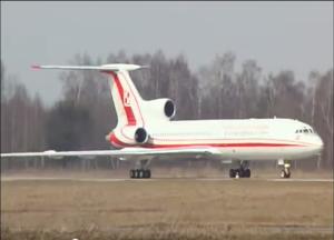 Tu-154M ląduje na Siewiernym 07 kwietnia 2010 r