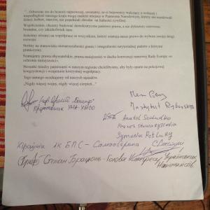 przyjechali z Ukrainy do Polski przywódcy organizacji patriotycznych i narodowych