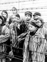 Children in the German concentration camp Auschwitz-Birkenau