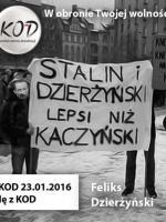 KOD miłość do Stalin i Dzierzyński