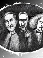 Paderewski Piłsudski Dmowski  ilustracja autor Maciej Szproch