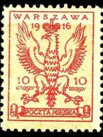 znaczek poczty miejskiej