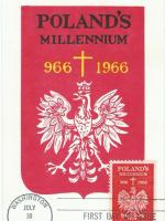 Poland's Millennium 1966 stamp & postcard