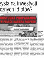 Korwin-Mikke służy rosyjskiej propagandzie w Polsce