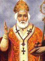 świety Mikołaj w szatach liturgicznych