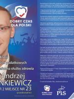 Ulotka wyborcza Filip Andrzej Stankiewicz